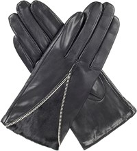 Dents Layla Wool Lined Leather Gloves Black