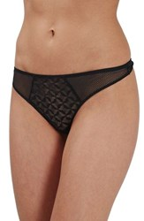 Topshop Women's Geo Mesh Low Rise Thong