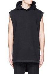 Givenchy Sleeveless Side Zip Hoodie Black