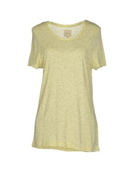 Selected Femme T Shirts Light Yellow