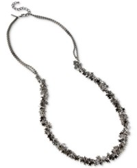 Inc International Concepts Hematite Tone Multi Star Long Statement Necklace Only At Macy's Gray
