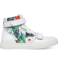 Kg By Kurt Geiger Cassey Leather Trainers White