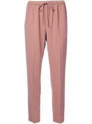 Alexander Wang Tailored Track Pants Pink And Purple