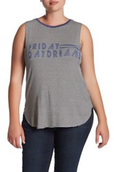 Hip Friday Daydream Tank Plus Size Gray