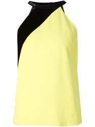 Fausto Puglisi Paneled Halter Neck Top Yellow And Orange