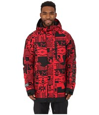 Dc Ripley Snow Jacket Torstein Ethnic Stripe Men's Coat Red