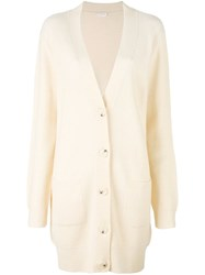 See By Chloe Oversized Ribbed Cardigan White