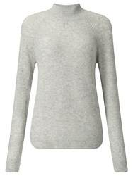 John Lewis Collection Weekend By Funnel Neck Cashmere Jumper Light Grey