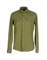 Liu Jo Jeans Shirts Shirts Men Military Green