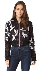 Self Portrait Lace Bomber Jacket Multi