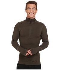 Terramar Thermolator Half Zip W Mesh Dark Loden Men's Long Sleeve Pullover Olive