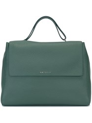 Orciani Satchel Tote Bag Green