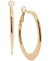 Kenneth Cole New York Edge Hoop Earrings Gold