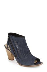 Women's Paul Green 'Willow' Peep Toe Bootie Navy Leather
