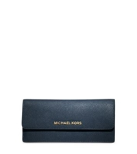 Michael Kors Jet Set Travel Slim Saffiano Leather Wallet Navy