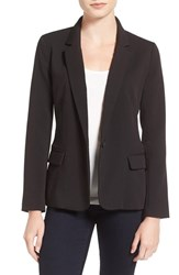 Cupcakes And Cashmere Women's 'Alivia' Stretch Crepe One Button Blazer Black