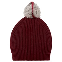 Lk Bennett L.K. Lulu Cashmere Blend Bobble Hat Deep Rose