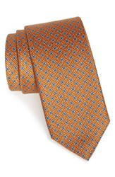 Men's J.Z. Richards Floral Silk Tie Orange