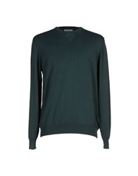 Alpha Studio Knitwear Jumpers Men Dark Green