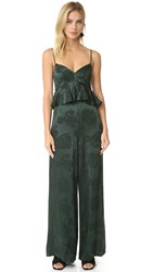 Cynthia Rowley Ruffle Jumpsuit Forest Green