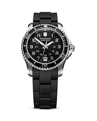 Victorinox Swiss Army Black Rubber And Stainless Steel Watch 34Mm