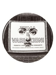 Fornasetti Printed Plate Black