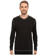 Agave Denim Nichols Baseball V Neck Long Sleeve Anthracite Men's Clothing Pewter