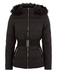 Jaeger Waisted Short Puffer Jacket Black