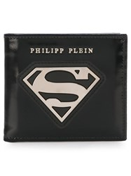 Philipp Plein Superman Logo Wallet Black