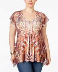 Styleandco. Style Co. Plus Size Flutter Sleeve Crochet Trim Peasant Top Only At Macy's Eternally