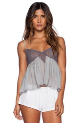 Free People Sweet Lace Cami Gray