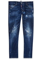 Dsquared Sexy Twist Distressed Skinny Jeans Denim