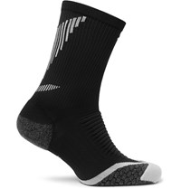 Nike Elite Cushioned Dri Fit Running Socks Black