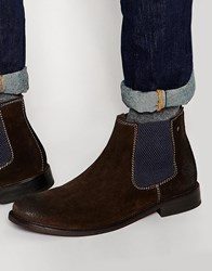 Base London Scuttle Suede Chelsea Boots Brown