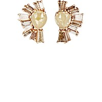 Nak Armstrong Women's Rustic And Champagne Diamond Earrings Pink
