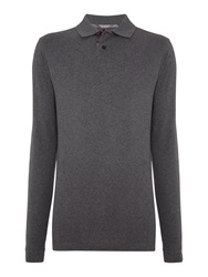 Barbour Long Sleeve Sports Polo Shirt Grey