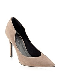 Kendall Kylie Abi Suede Single Sole Pointed Toe Pumps Natural