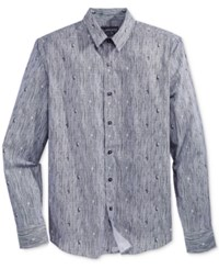 American Rag Men's Printed Long Sleeve Shirt Only At Macy's Basic Navy