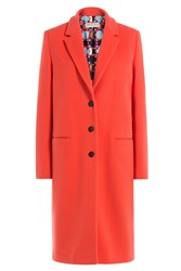 Emilio Pucci Coat With Printed Lining Red