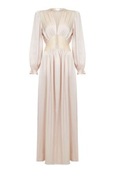 Ghost Farah Dress Nude Blush