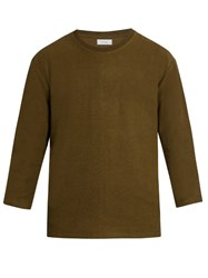 Fanmail Crew Neck French Terry Towelling Sweatshirt Khaki