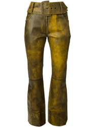Christian Dior Vintage Flared Trousers Yellow And Orange