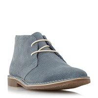 Howick Haider Corduroy Effect Chukka Boots Blue