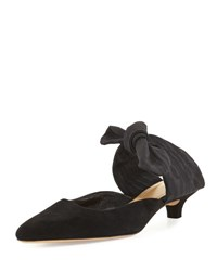 The Row Coco Suede 40Mm Mule Black Black White