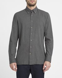 Hackett Grey Micro Chevron Flannel Shirt