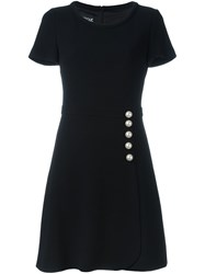 Boutique Moschino Pearl Buttons Dress Black