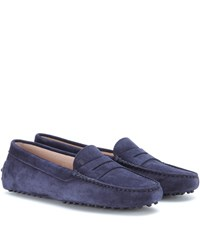 Tod's Gommini Suede Loafers Blue