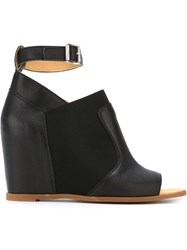 Maison Martin Margiela Mm6 Maison Margiela Ankle Strap Wedge Sandals Black