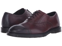 Dr. Martens Morris Brogue Shoe Cherry Red Temperely Men's Lace Up Casual Shoes Burgundy