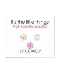 Dogeared Its The Little Things Sterling Silver Flower Stud Earrings